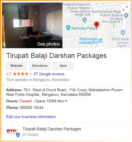 Location of Balaji Tour Packages
